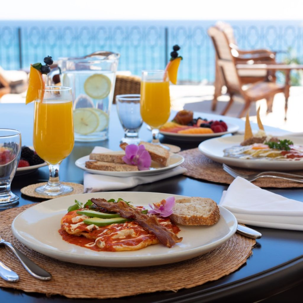 Offering breakfast for your Cabo Vacation Rental Travel Packages